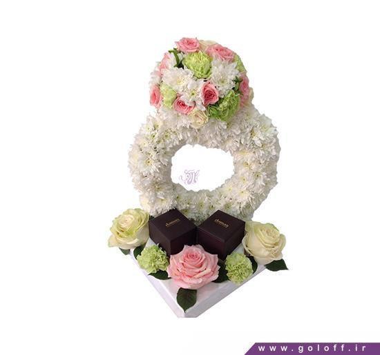 تزیین حلقه نامزدی با گل طبیعی | گل آف