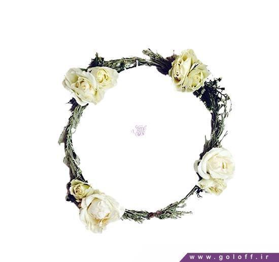 تاج عروس با گل رز | گل آف