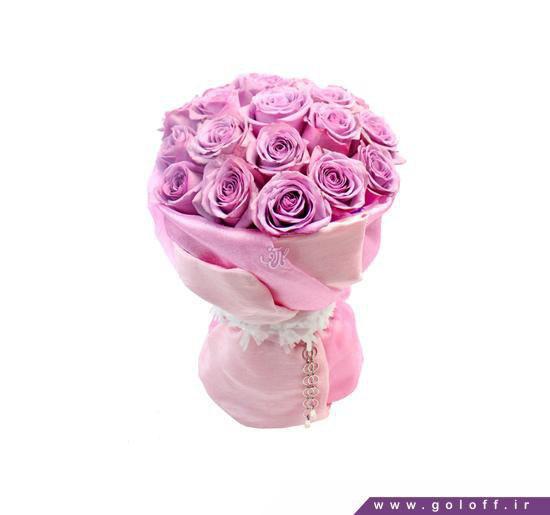 دسته گل رز بنفش - دسته گل رامیرا - Ramira | گل آف