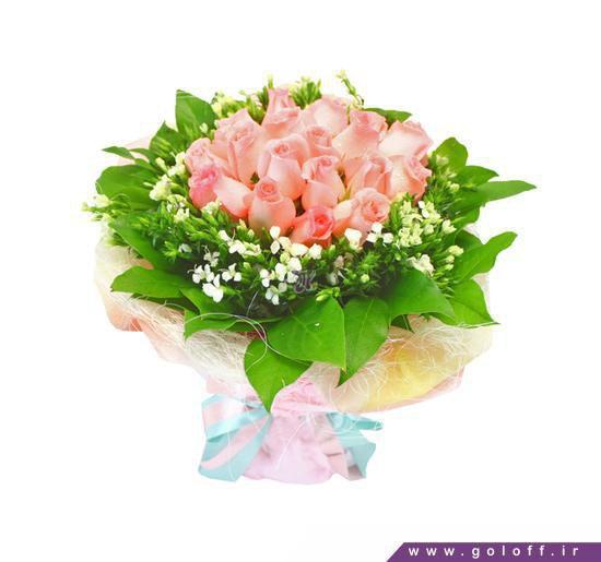 دسته گل رز صورتی - دسته گل پیلار - Pilar | گل آف