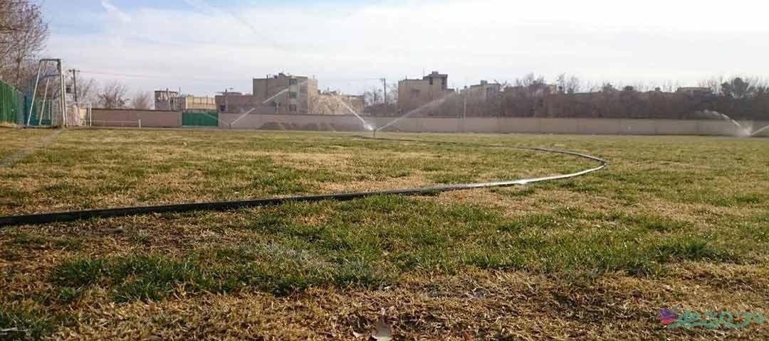 زمین چمن مجموعه ورزشی شهدای کردآباد اصفهان