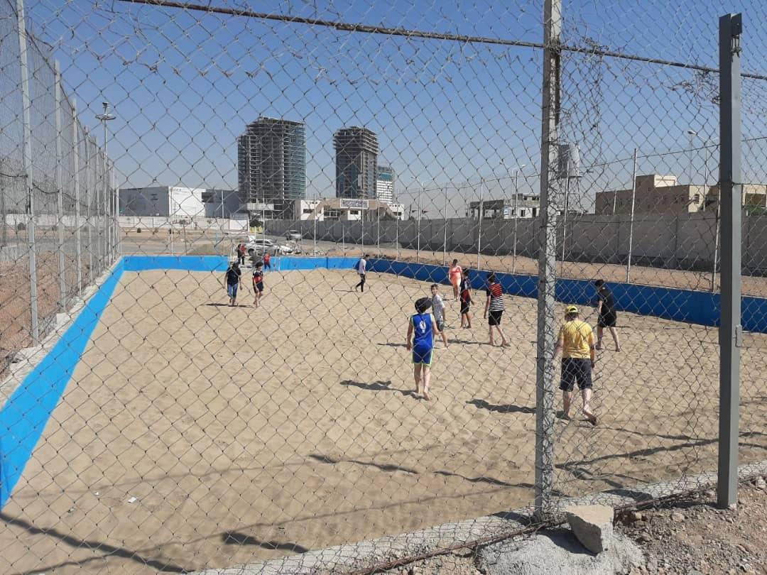 اجاره زمین ساحلی والیبال و فوتبال